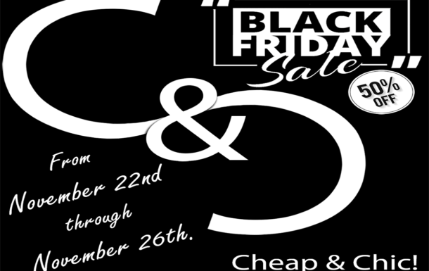 Cheap & Chic!  Back Friday 2018