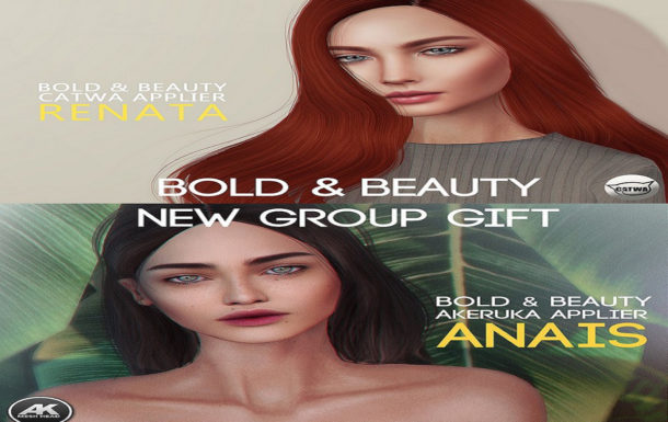 Anais Akeruka Head & Renata Catwa Head Appliers Fatpack November 2018 Group Gifts by Bold & Beauty
