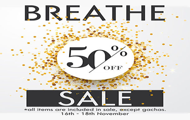 50% Off Sale at Breathe!