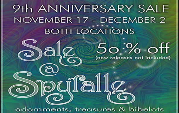 9th Anniversary Sale at Spyralle!