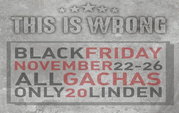 THIS IS WRONG – BLACK FRIDAY