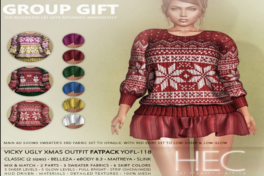HEC (GROUP GIFT) • VICKY UGLY XMAS OUTFIT FATPACK
