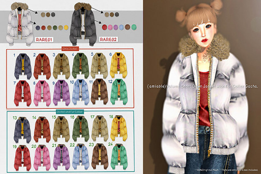 {amiable}Volume Short Down Jacket with Fur Collar Gacha