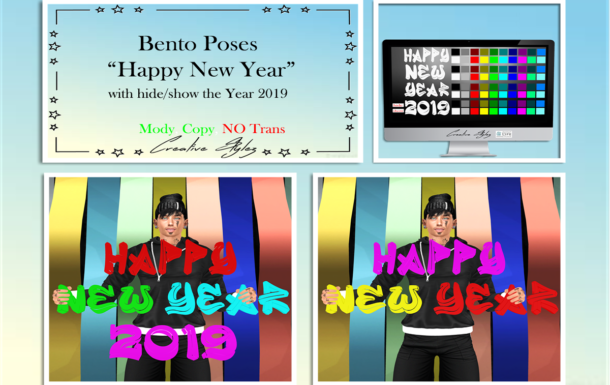 Creative Stylez – Bento Poses – Happy New Year –