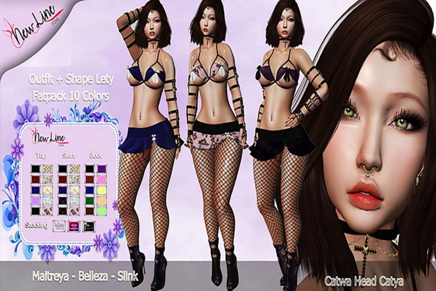 .::New Line Store::.Outfit + Shape Lety – Fatpack