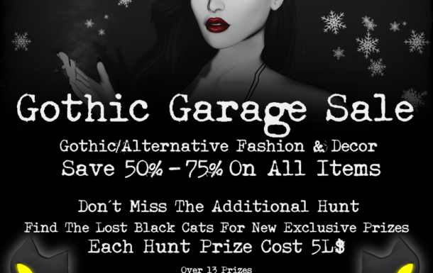 Gothic Garage Sale Hunt