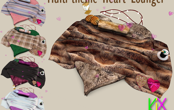 Multi-Theme Heart Lounger