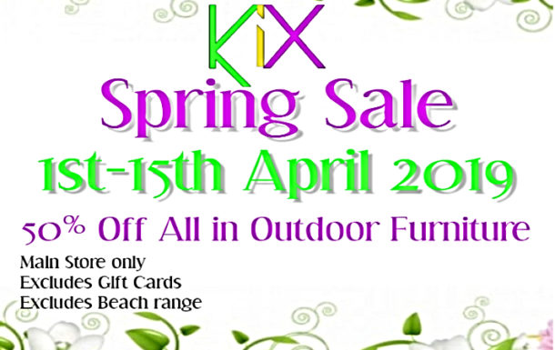 KiX Spring Sale – April 2019 Promo