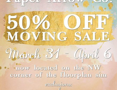 Paper Arrow Co! – March 2019 Promo
