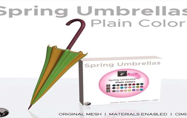 Spring umbrella (plain colors) Gifts