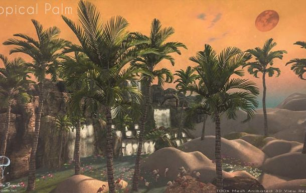 Little Branch Tropical Palm – New