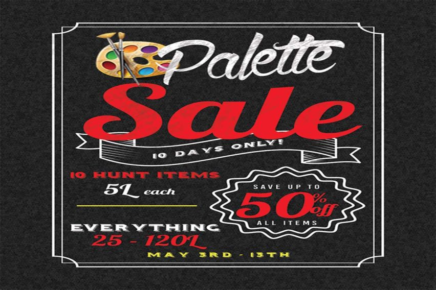 Palette Moving Sale – May 2019