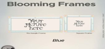 Blooming Frames-Blue Gifts