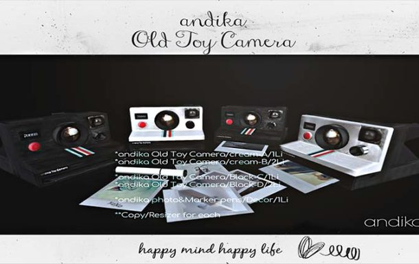 andika[andika Old Toy Camera Decor Set] – NEW