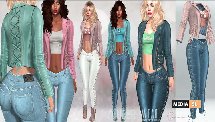 Gemma Jeans and Leather Jacket – NEW