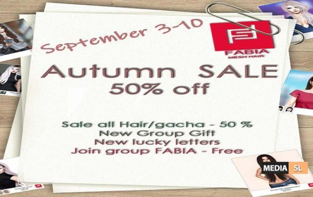 Autumn SALE – All 50% – SALE