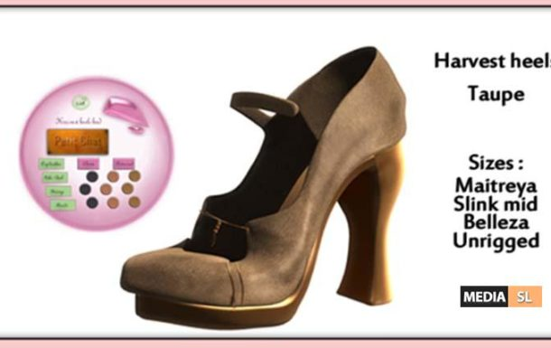 Harvest Heels – Taupe  – Gift