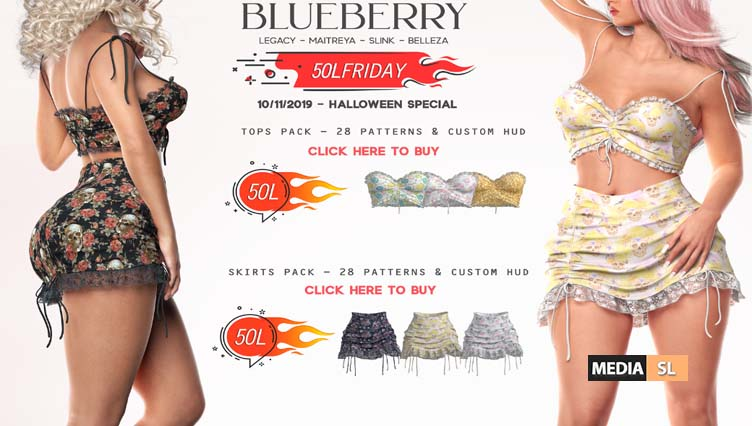 Blueberry 50L Friday♥ Halloween Special – SALE