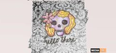 Paper.Sparrow Skull Hello There Book Group – Gift