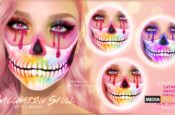 Saccharine Skull Makeup  – NEW