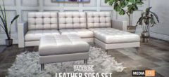 Leather Sofa Set – NEW