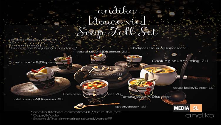 andika [douce vie] Soup Full Set – New Decor