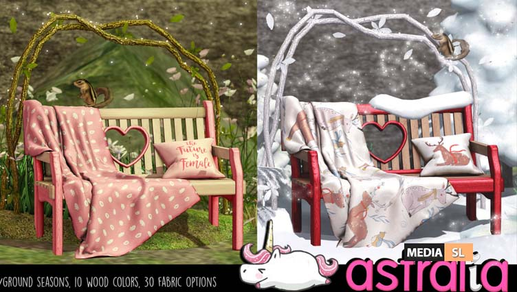Seasonal love bench – New Decor