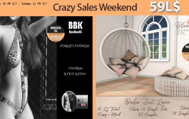 MEDIA SL CRAZY SALE WEEKEND  NOVEMBER  8-10TH