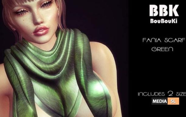 Fania Scarf Green November 2019 Group – Gift