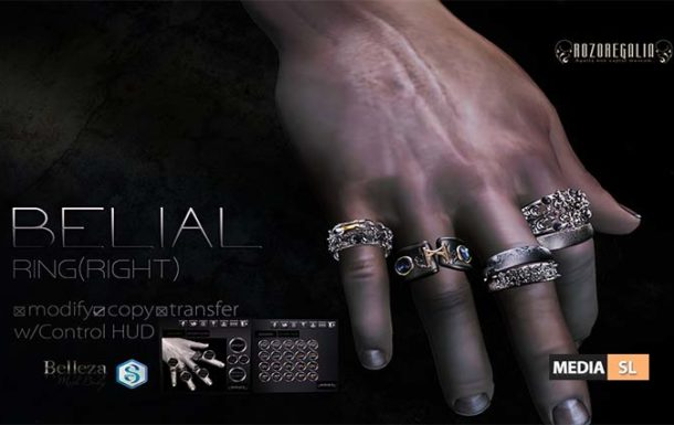 ROZOREGALIA BELIAL*RING (Right) Gianni&Jake – NEW Men
