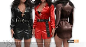 Avery Leather Dress – NEW
