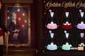 golden witch outfit – NEW
