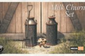 Milk Churns Set - Gift