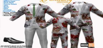 AmAzInG CrEaTiOnS Xmas Men Suit Outfits (Lapel) 05 – Gift