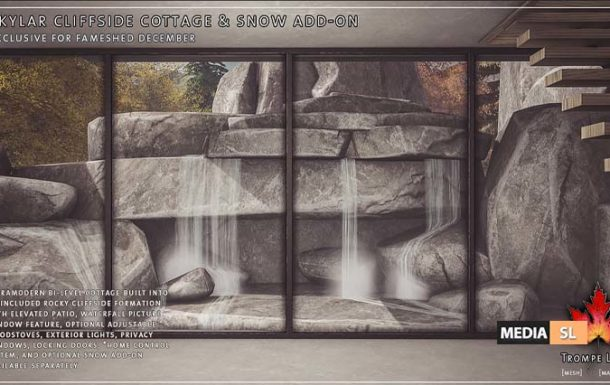 Skylar Cliffside Cottage and Snow Add-On – New Decor
