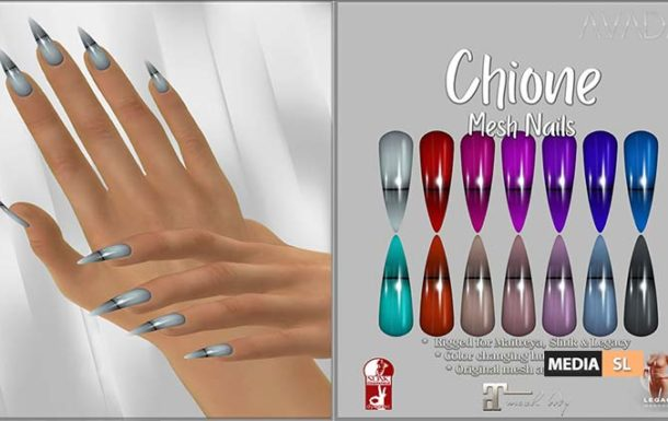 Chione Stiletto Nails @ The Darkness Event – NEW