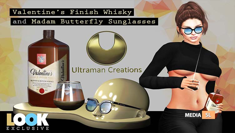 Valentine's Finish Whisky and Madam Butterfly Sunglasses – New