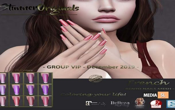 Bento Nails Mesh Ballerina French – GROUP VIP – Gift