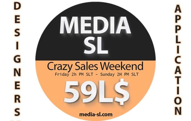 MEDIA SL CRAZY SALES WEEKEND DESIGNERS APPLICATION