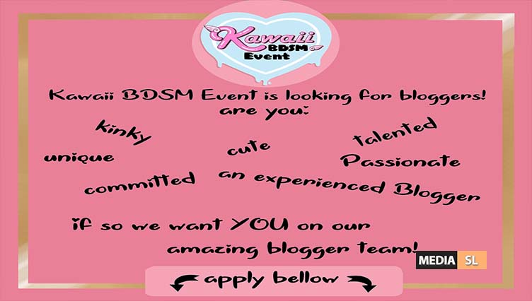 Kawaii BDSM Event is looking for bloggers – BLOG