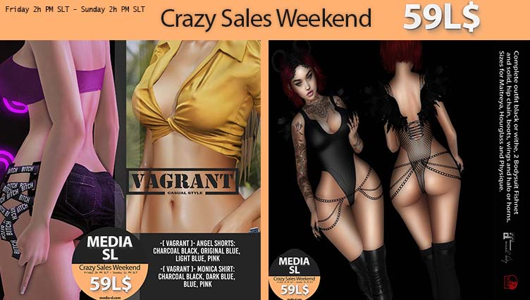 MEDIA SL CRAZY SALE WEEKEND January 10-12TH