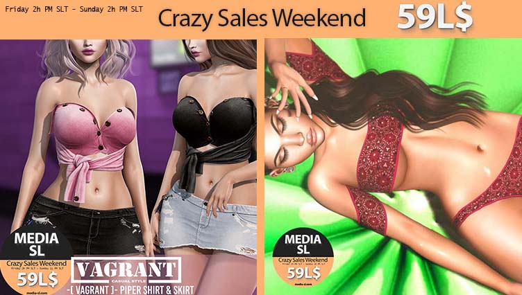 MEDIA SL CRAZY SALE WEEKEND January 17-19TH
