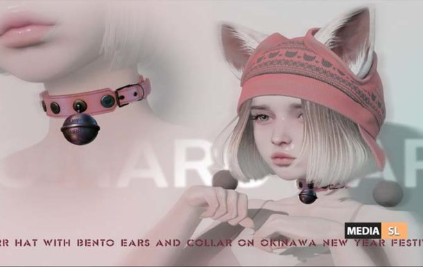 PURR HAT WITH BENTO EARS and PURR COLLAR – NEW