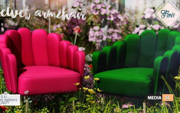 Velvet Armchair – NEW DECOR