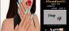 [MNB – Gift 3] Monisatti – Stiletto Nails – Gift