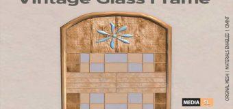 Vintage Glass Frame – Natural – Gift