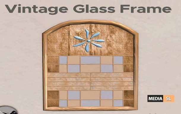Vintage Glass Frame – Natural – Gift