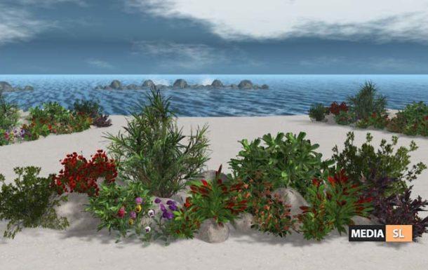 Tropical Flowers Rocks Arrangement M20 – NEW DECOR
