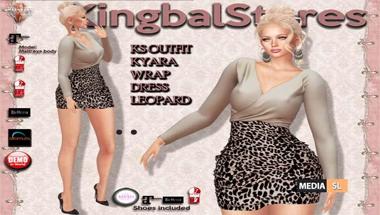 KS OUTFIT KYARA WRAP DRESS LEOPARD – NEW