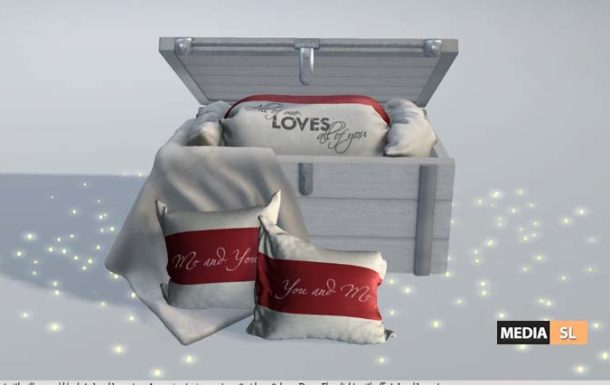 Me You and Love Chest with Pillows with anims. B25  – NEW DECOR